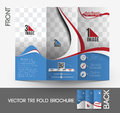 Automobile center tri fold brochure mock up design Stock Photo