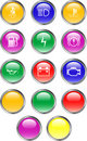Automobile Dashboard Buttons Royalty Free Stock Photo