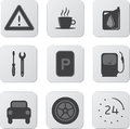 Automobile Icons Stock Photos