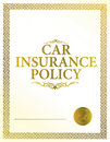 Automobile insurance policy Royalty Free Stock Images