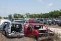 Automobile salvage yard Royalty Free Stock Photo