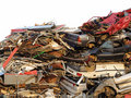 Automobile scrapyard Stock Image