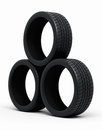 Automobile tires Stock Photo