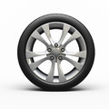 Automobile tires and wheel Royalty Free Stock Image