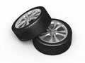 Automobile tires and wheels Royalty Free Stock Image