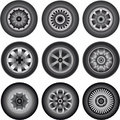 Automobile wheels 01 Royalty Free Stock Images