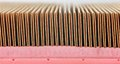 Automotive air filter detail enlarged of the Royalty Free Stock Image
