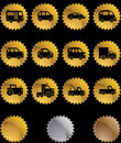 Automotive Buttons - Gold Seal Royalty Free Stock Photos
