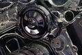 Automotive Engine Close Up