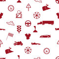 Automotive icon pattern eps red Royalty Free Stock Photography