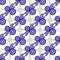 Automotive seamless pattern with service icon. Background with a blue wrench and gears. Royalty Free Stock Photo