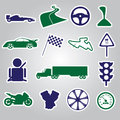 Automotive stickers collection eps color Stock Images