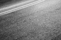 Automotive transportation background double dividing line abstract asphalt road fragment Royalty Free Stock Images