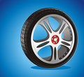 Automotive wheel Stock Image