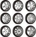 Automotive wheel Stock Photo