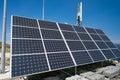 Autonomous base station antennas of cellular communication Royalty Free Stock Photo