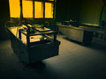 An autopsy room interior Royalty Free Stock Photo