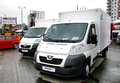 Autosalon ufa russia may light cargo vans peugeot boxer exhibited at the annual motor show on may in bashkortostan russia Stock Photo
