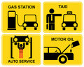 Autoservice, fuel station, change Royalty Free Stock Images