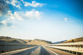 Autostrada landscape of a sicilian highway called in italian Royalty Free Stock Image