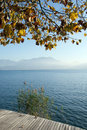 Autumn at Annecy lake Royalty Free Stock Photography