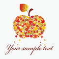 Autumn apple. Royalty Free Stock Photo