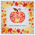 Autumn apple. Vector illustration eps.10.  Royalty Free Stock Photos
