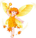 Autumn baby fairy Stock Photography