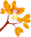 Autumn baby fairy Royalty Free Stock Photo