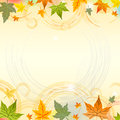 Autumn background with circles Stock Photography