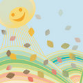 Autumn background illustration Royalty Free Stock Photography