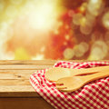 Autumn background with kitchen utensil blur Royalty Free Stock Images