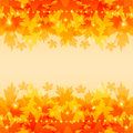 Autumn background with maple leaves stylized autumnal backdrop red and yellow foliage Stock Photo