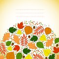 Autumn background for messages with leaves Stock Image