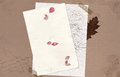 Autumn background with nice floral stationery Stock Photos