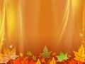 Autumn background with orange drapery