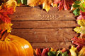 Autumn background with pumpkin Stock Photos