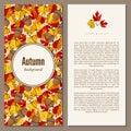 Autumn background raster illustration