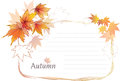 Autumn background vector blank paper layout with beautiful leaves Royalty Free Stock Photography