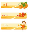 Autumn Backgrounds Set Stock Photography