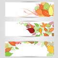 Autumn banner. eps10. Royalty Free Stock Photo