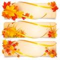 Autumn banners. Royalty Free Stock Photos