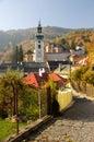 Jeseň v meste Banská Štiavnica