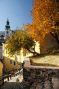 Jeseň v meste Banská Štiavnica, Slovensko