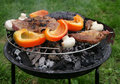 Autumn barbecue Stock Photo