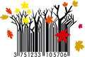 Autumn Barcode Stock Photo