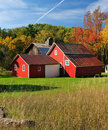 Autumn Barn in Michigan Sleeping Bear Dunes USA Stock Images