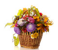 Autumn basket Royalty Free Stock Photo
