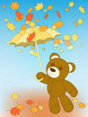 Autumn bear Stock Photography