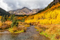 Autumn Beauty at Maroon Bells Royalty Free Stock Photo